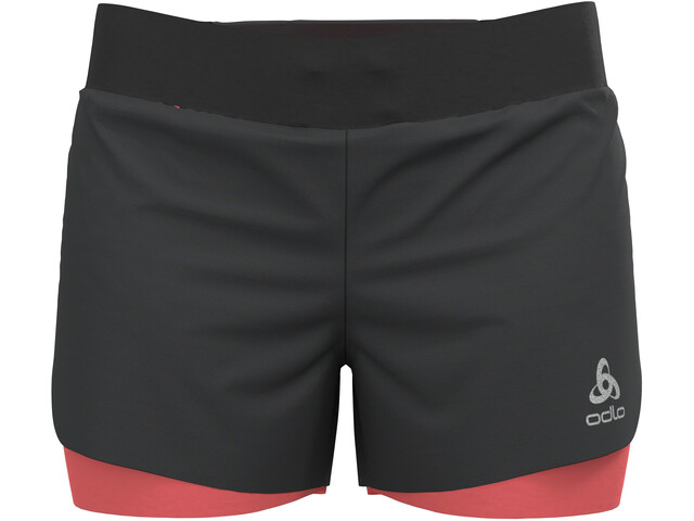 "Odlo Zeroweight 3 ""2-i-1 shorts Damer, sort"